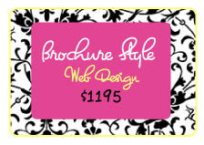 Boutique Brochure Style Website